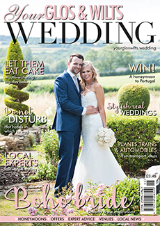 Front cover of Your Gloucestershire & Wiltshire Wedding magazine - issue 3
