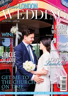 Front cover of Your London Wedding magazine - issue 59