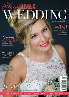 Front cover of Your Sussex Wedding magazine - issue 73