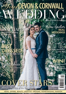 Front cover of Your Devon and Cornwall Wedding magazine - issue 13