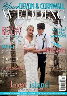 Front cover of Your Devon and Cornwall Wedding magazine - issue 14