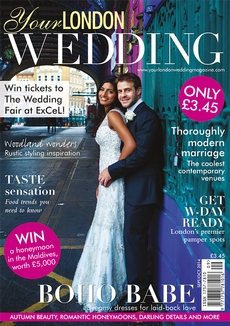 Front cover of Your London Wedding magazine - issue 37
