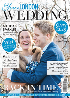 Front cover of Your London Wedding magazine - issue 38
