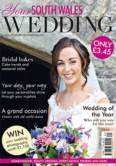 Front cover of Your South Wales Wedding magazine - issue 39