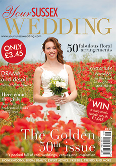 Front cover of Your Sussex Wedding magazine - issue 50