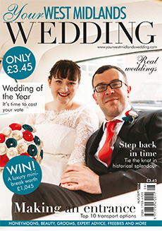 Front cover of Your West Midlands Wedding magazine - issue 33