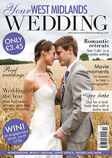Front cover of Your West Midlands Wedding magazine - issue 34