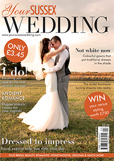 Front cover of Your Sussex Wedding magazine - issue 53