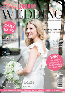 Front cover of Your London Wedding magazine - issue 40