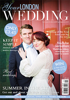 Front cover of Your London Wedding magazine - issue 41