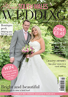 Front cover of Your South Wales Wedding magazine - issue 41