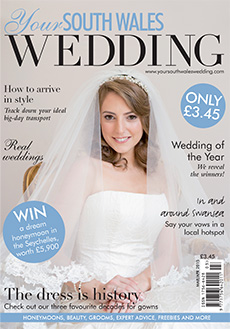 Front cover of Your South Wales Wedding magazine - issue 42