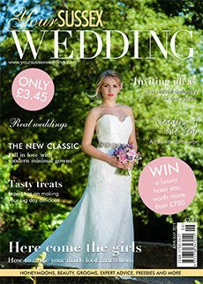 Front cover of Your Sussex Wedding magazine - issue 55
