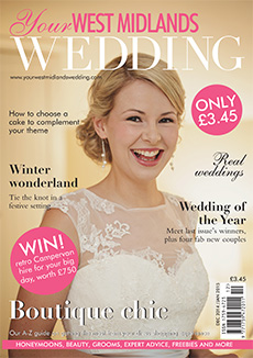 Front cover of Your West Midlands Wedding magazine - issue 35