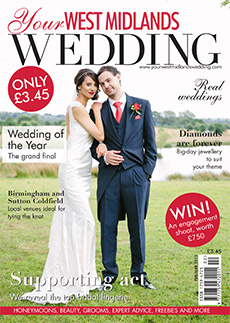 Front cover of Your West Midlands Wedding magazine - issue 36