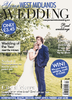 Front cover of Your West Midlands Wedding magazine - issue 37