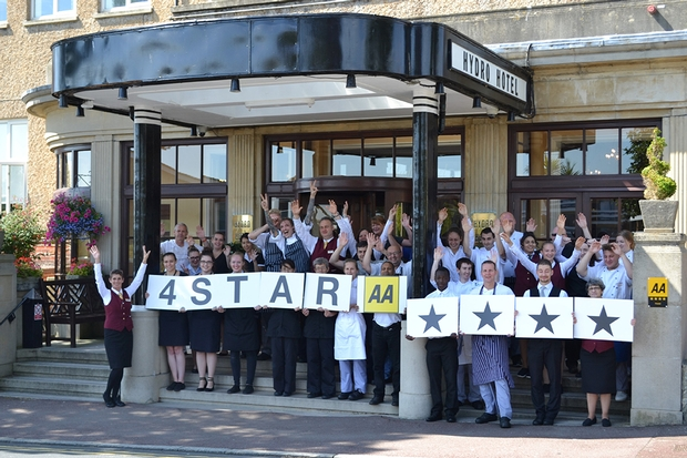Hydro Hotel, Eastbourne Awarded 4 Stars By The AA
