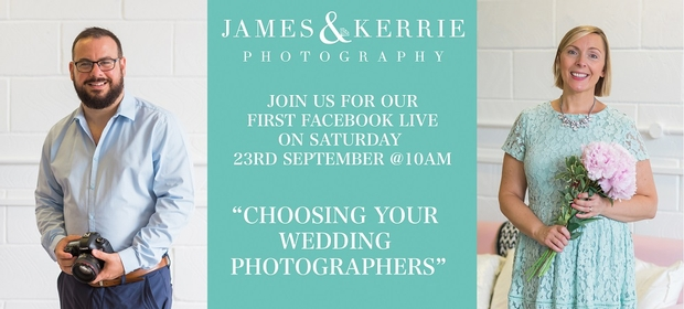 Don't miss: London Photographers James & Kerrie to host Facebook Live session on choosing a wedding photographer