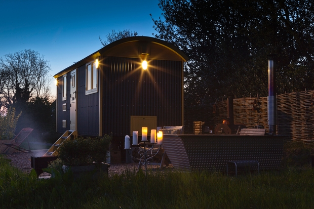 Tor View Shepherd's Huts near Wells, Somerset are shortlisted for a prestigious award