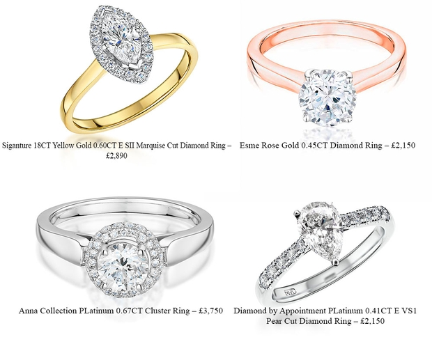 Local jewellers Laings reveal some of their favourite engagement rings
