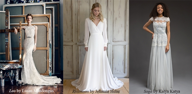 Bridal boutique The Case of the Curious Bride reveals three of their favourite wedding dresses