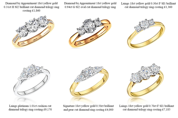 Local jewellers Laings have reported an increase in yellow gold rings since Meghan Markle's engagement to Prince Harry