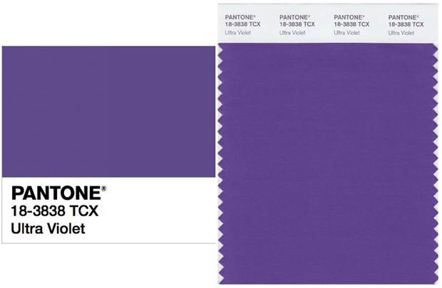 Ultra Violet announced as Pantone Colour of the Year for 2018