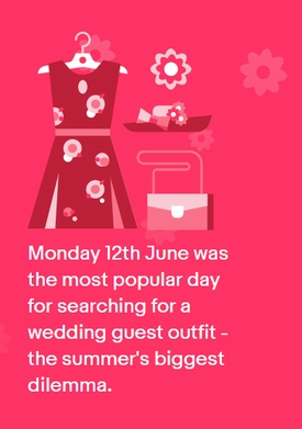 Love is in the air - but what's the most popular day to buy your wedding guest outfit?