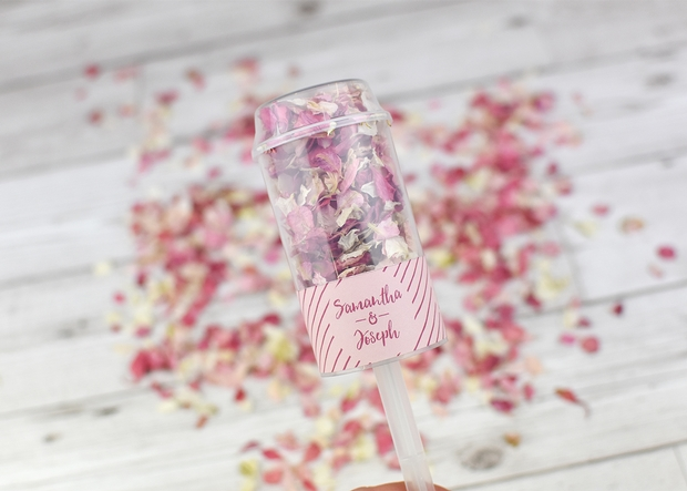 Newport-based Shropshire Petals have launched their new range of personalised confetti pops.