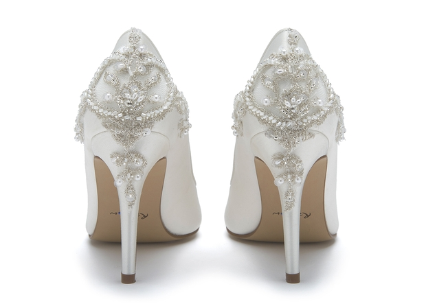 1a1ff2bf256 Bridal shoe experts Rainbow Club has collaborated with designer Ivory   Co  to create embellished wedding shoes
