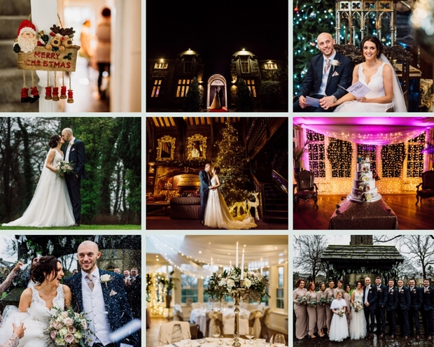 Lauren and Jack had a festive wedding at the magical Mitton Hall