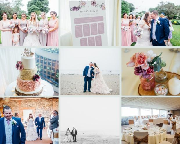 Stephanie and Matthew tied the knot at the Oxwich Bay Hotel
