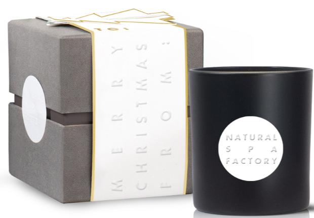 We love the new Amber Noir candle from Bath-based Natural Spa Factory