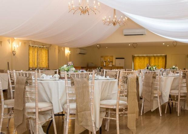 Breakfast is served at Norfolk wedding décor hire firm
