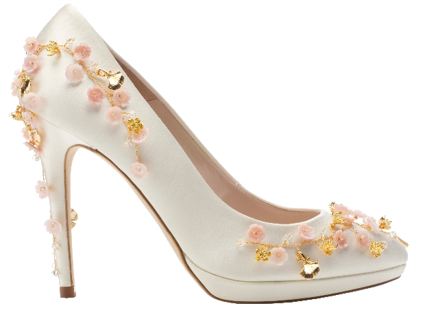 Bridal shoe designer Harriet Wilde has collaborated with accessory designer Hermione Harbutt