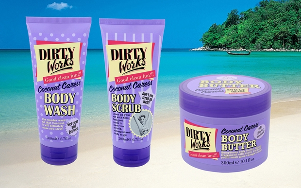New bodycare collection from Dirty Works