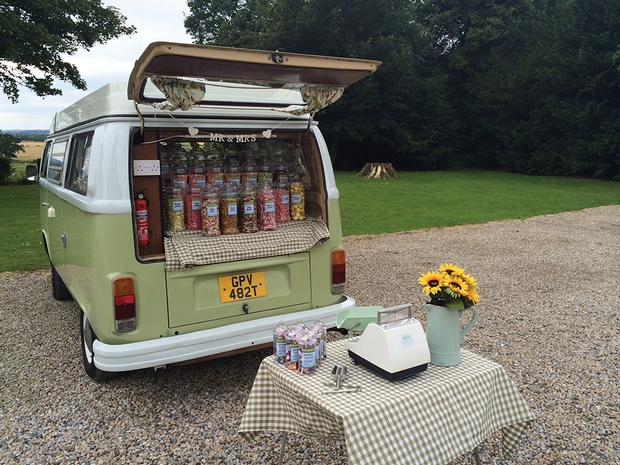 First wedding for VW Campervan Candy Cart