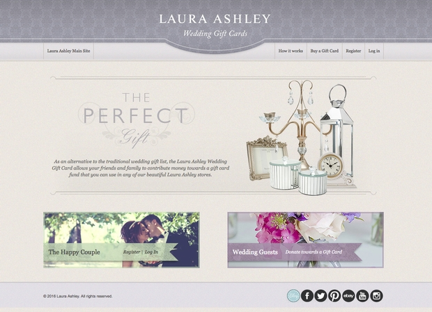 "The LAURA ASHLEY GIFT CARD (the ""Card"") is an electronic store gift card issued by Laura Ashley, Inc., which may be used exclusively for the purchase of LAURA ASHLEY merchandise at the Company's website, od7hqmy0z9642.gq"