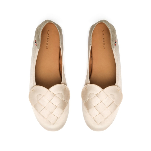 Astrid Andreassen releases a collection of slipper shoes fit for a hygge-loving bride