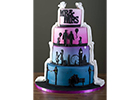 Quirky wedding cake tells the story of a couple's romance in this new design by Essex County Cakes