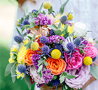 Florist Laura Bowyer reveals how you can incorporate the summer season into your big-day blooms