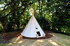 New pop-up spa tipi at Hampshire's Burley Manor