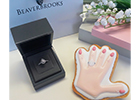 Beaverbrooks jewellers collaborates with Custom Cookie Co to give away Insta-worthy cookies when couples purchase a ring at London Westfield Stratford store