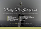 Marry Me In Winter Package available to book at Hatton Court Hotel in Gloucestershire