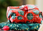 Calling green couples - luxury re-usable gift wrap is here!