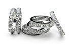 Online diamonds specialist Diamonds Factory offers wedding rings that don't cost the earth