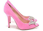 Bridal footwear designer Aruna Seth is in the bubble gum pink with latest butterfly heels