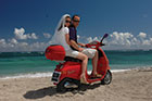 Zip around Nevis on Vespas for your honeymoon