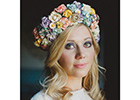 Designer Claire Austin launches floral headband and bouquet collection