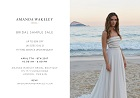 Sample sale alert! Amanda Wakely gowns going for a steal in London this weekend